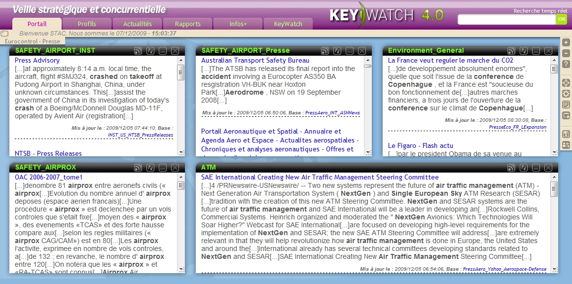Nouvelle version du portail de veille de Keywatch, solution de veille stratégique