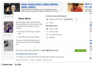 Bing Alerts