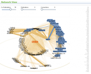 Dataviz de réseau de collaborations sur BioMEdExperts